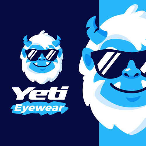 Snow logo with the title 'Yeti Eyewear'