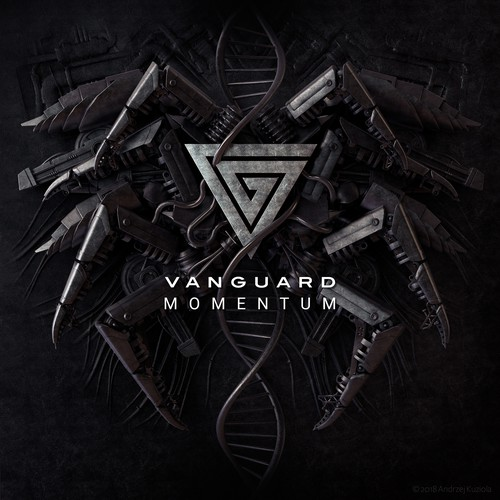 CD cover illustration with the title 'Vanguard Momentum'