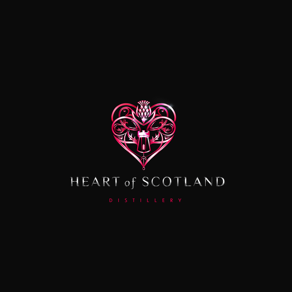 Scottish design with the title 'A heart in the heart'