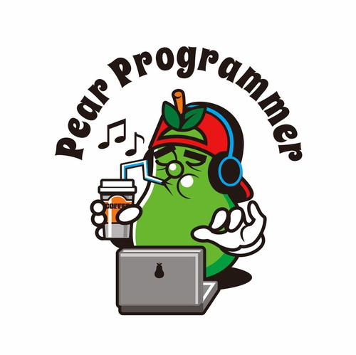 Computer t-shirt with the title 'Pear Programmer'