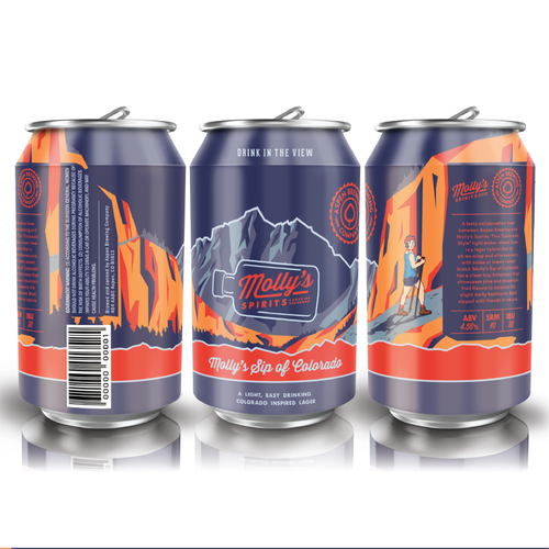 Microbrewery design with the title 'Vibrant Can Label'