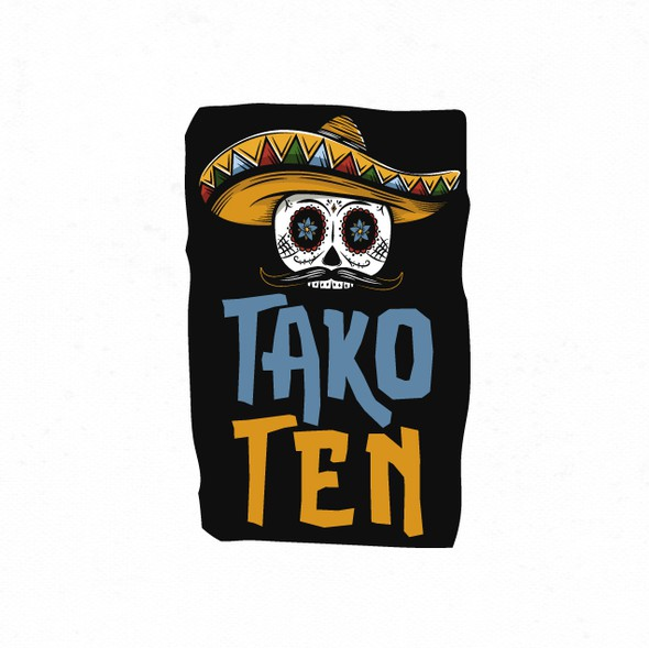 Dia de los Muertos logo with the title 'Bold and vibrant logo for an upscale Taco franchise.'