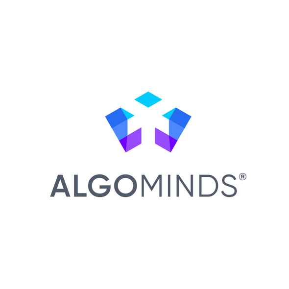 Direction design with the title 'Logo designs for AlgoMinds'