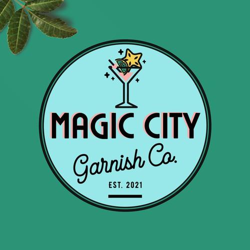 Fun logo with the title 'Magic City Garnish Co. Logo Design'