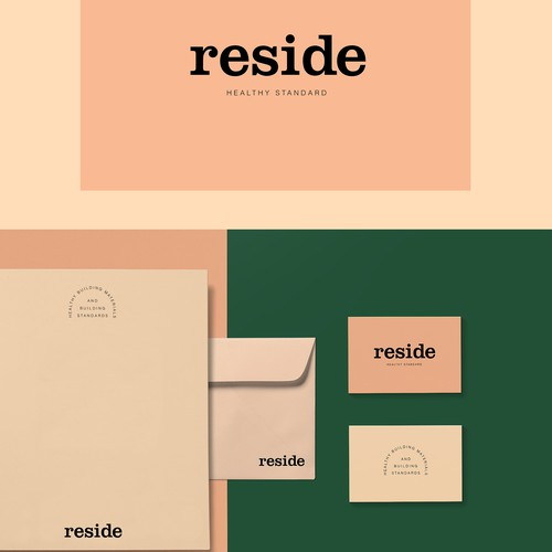 Healthy brand with the title 'RESIDE Healthy Standard brand identity'