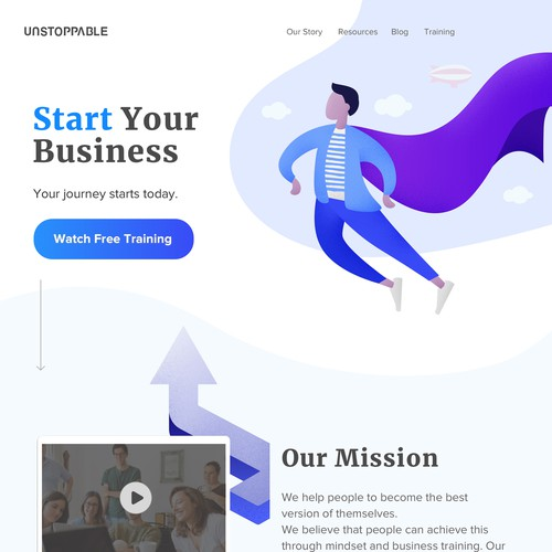 Innovative website with the title 'Landing page'