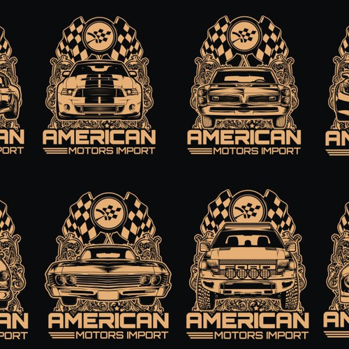 Racing t-shirt with the title 'Design a tee for American Motors Import. Norway's #1 car importer. aminorge.no'