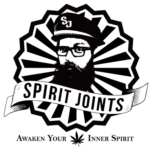 Weed brand with the title 'SPIRIT JOINTS Logo design'