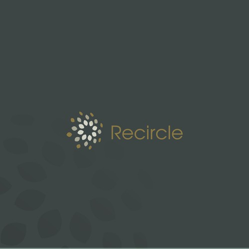 Recycling logo with the title 'Abstract Floral logo design'