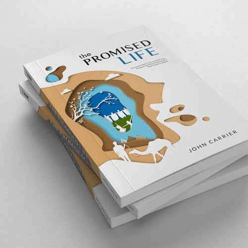 Artsy book cover with the title 'Digital-paper-cut book cover design'