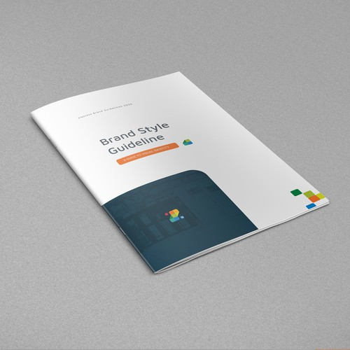 Style guide design with the title 'Brand Guide for a Tech Firm'