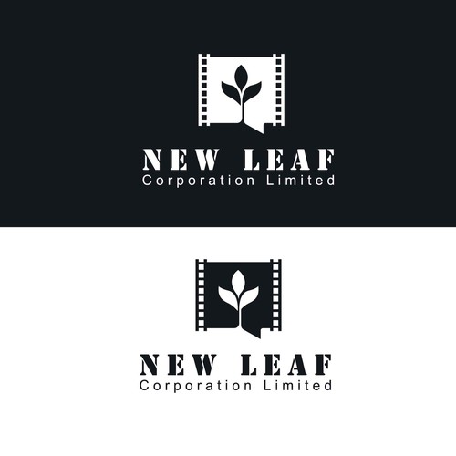 Talking logo with the title 'New Leaf'