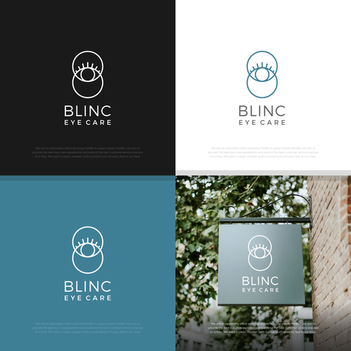 Doctor brand with the title 'Blinc Eye Care eye-catching logo/branding'