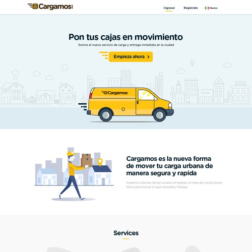 Cargo design with the title 'Cargamas'