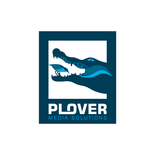 Communications brand with the title 'Logo design for Plover Media Solutions'