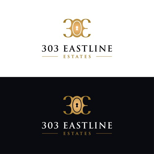 Keyhole logo with the title '303 Eastline Estates'
