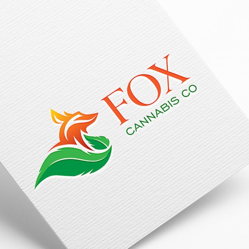 Abstract fox logo with the title 'Fox Cannabis Co.'