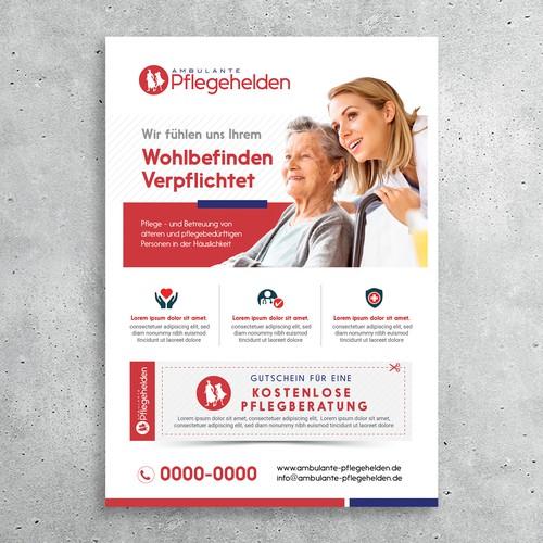 Nurse design with the title '6-seitiger Flyer für im modernen Design'