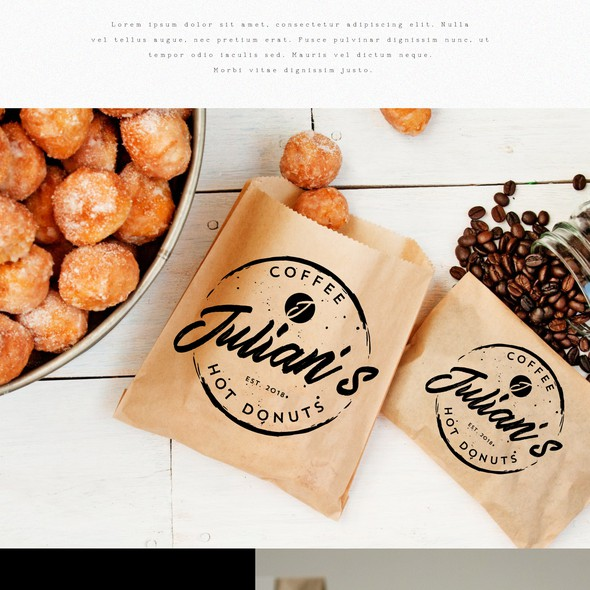 Coffee shop brand with the title 'Logo for Julian's'