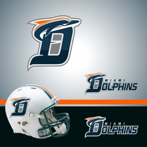 Rugby logo with the title 'Miami Dolphins NFL team re-design its logo!'