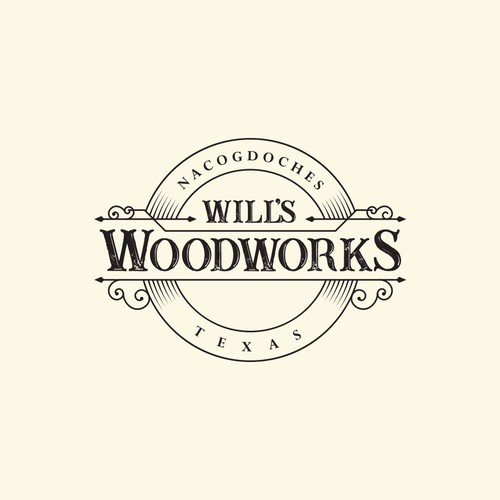Carving logo with the title 'Logo for a custom woodworking company. '