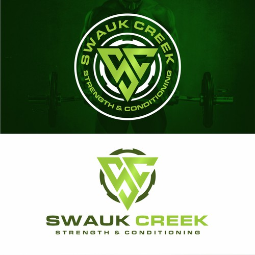 Insignia design with the title 'SWAUK CREEK'