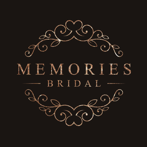 Bride and groom logo with the title 'Log design for bridal store '