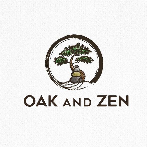 Zen logo with the title 'Oak and Zen'