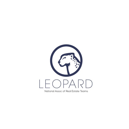 Leopard logo with the title 'real estate logo'