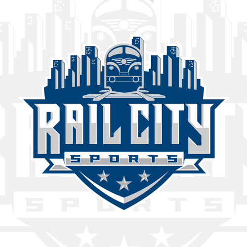 Skyline design with the title 'Sport logo'