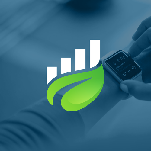 Leaf design with the title 'Leaf Analytics'
