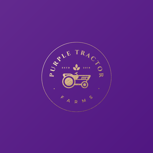 Agriculture brand with the title 'Purple Tractor Farm'