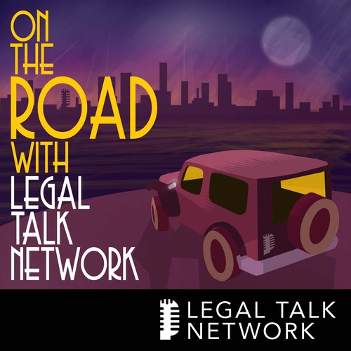 Moonlight design with the title 'Logo for podcast (Legal Talk Network)'