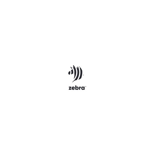 Zebra logo with the title 'Zebra design'