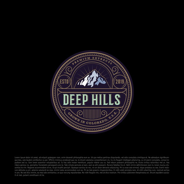 Horticulture design with the title 'Deep Hills'