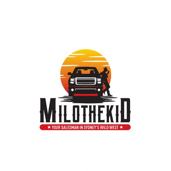 Car dealership logo with the title 'Cowboy'