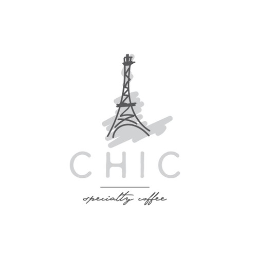Paris logo with the title 'French style of coffee shop'