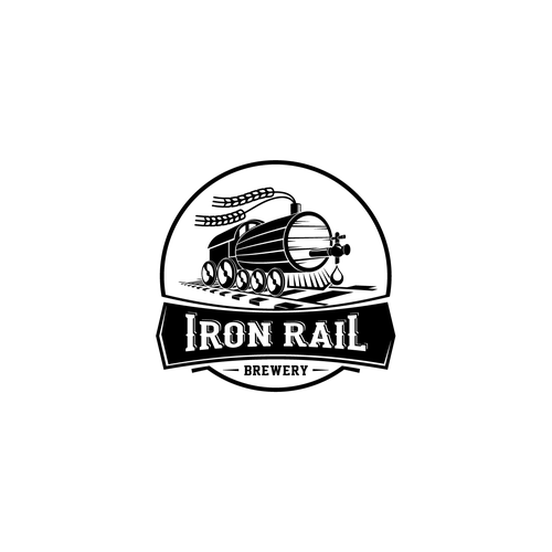 Railroad logo with the title 'Logo concept for a New Brewery & Restaurant '