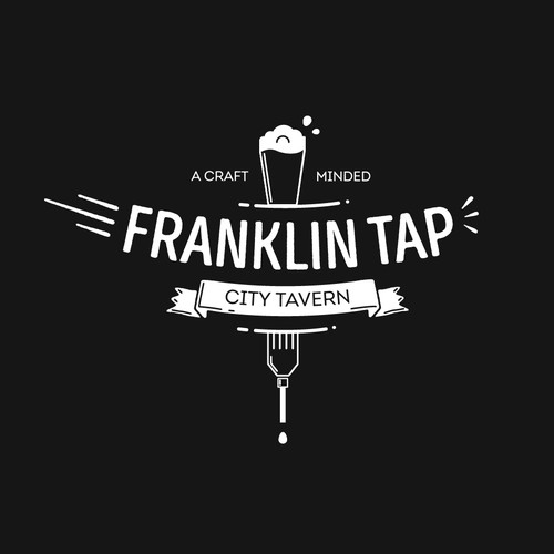 City brand with the title 'Brand identit for Franklin Tap'