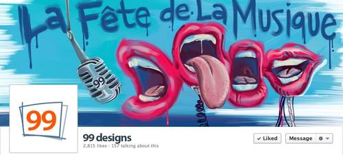 Festival design with the title 'La Fête de la Musique fb cover'