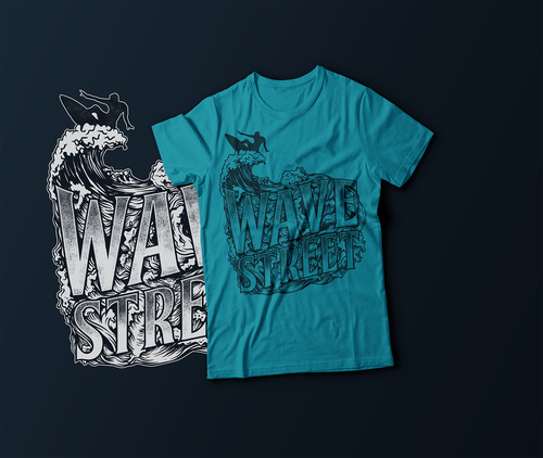 Wave t-shirt with the title 'Wave Street'