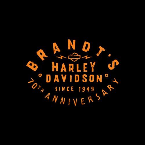 Motor logo with the title 'BRANDT'S HARLEY DAVIDSON'