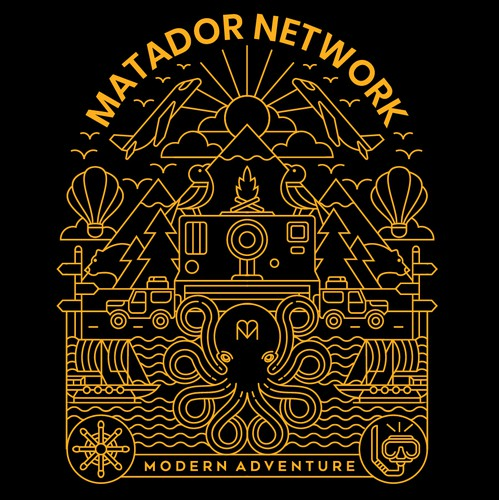 Travel t-shirt with the title 'Matador Network'