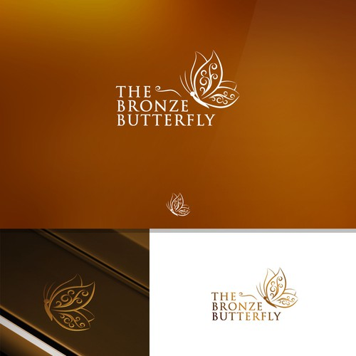 Bronze design with the title 'The Bronze Butterfly'