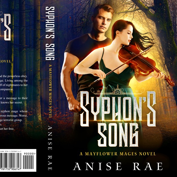 Forest book cover with the title 'Syphon's Song - Paranormal Romance'