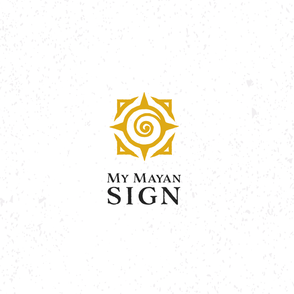 Astrology logo with the title 'Mayan Ancient Sign'