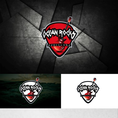 Rock brand with the title 'Logo for Ocean Rocks company'