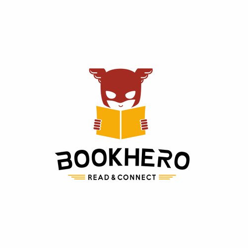 Library design with the title 'Logo design for international book sharing platform'