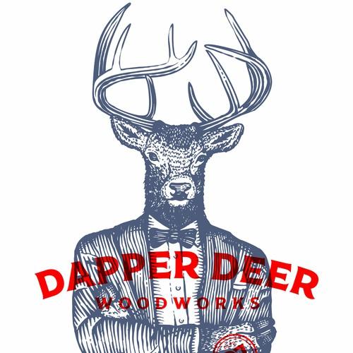 Deer head logo with the title 'Dapper Deer'