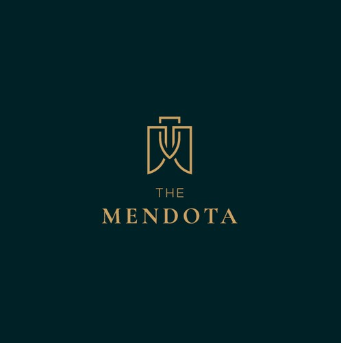 Apartment logo with the title 'Logo for high-end apartment complex'